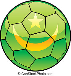 Mauritania flag on soccer ball