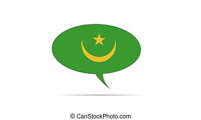 Mauritania Flag Speech Bubble