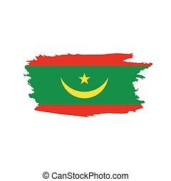 Mauritania flag, vector illustration on a white background