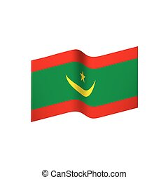 Mauritania flag, vector illustration