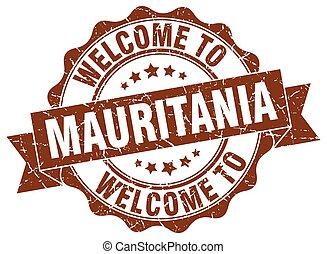 Mauritania round ribbon seal
