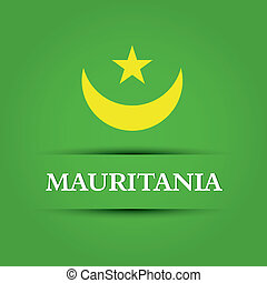 mauritania text on special background allusive to the flag