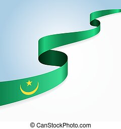 Mauritanian flag background.