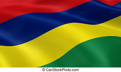 Mauritian flag in the wind