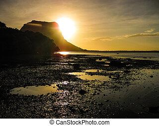Mauritius at sunset