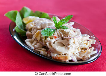 """Mauritius dish - """"salad of the millionaire"""" - salad from a..."""