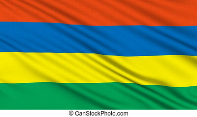 Mauritius Flag. - Mauritius Flag, with real structure of a...