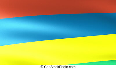 Mauritius Flag Waving