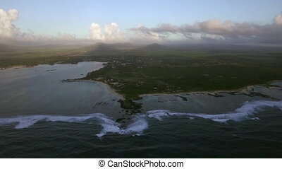 Mauritius Island, aerial view - Aerial landscape of green...