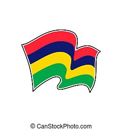Mauritius national flag. Vector illustration. Port Louis - ...