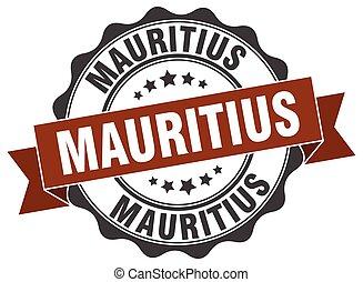 mauritius, rotondo, nastro, sigillo
