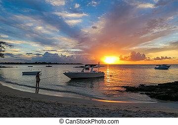 Mauritius Sunset at the Beach
