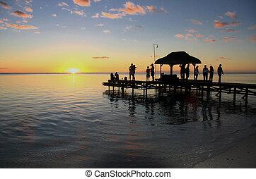Mauritius sunset - Beautiful sunset in Mauritius