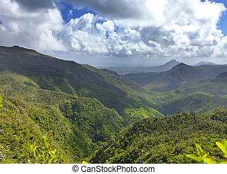 Mauritius. View of mountains