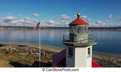 Maury Island Point Robinson Lighthouse Puget Sound Vashon...