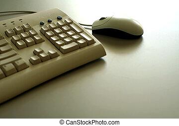 maus, und, tastatur