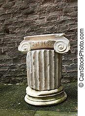 Mausoleo di Cecelia Metella - inside detail column - in Via ...