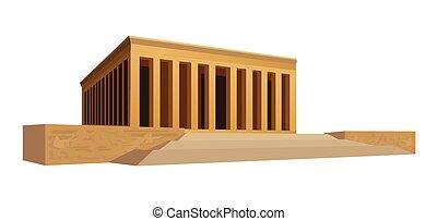 Mausoleum - Illustration of a mausoleum, isolated on white...
