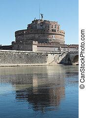 Mausoleum of Hadrian in Rome, Italy