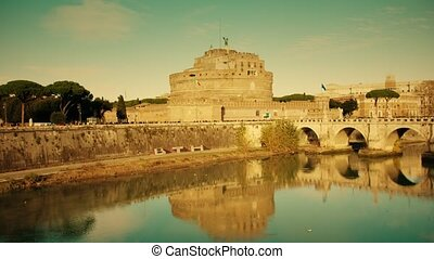 Mausoleum of Hadrian, known as Castel Sant'Angelo, and...