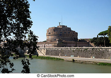 Mausoleum of Hadrian, usually known as the Castel Sant'Angelo in Rome, Italy
