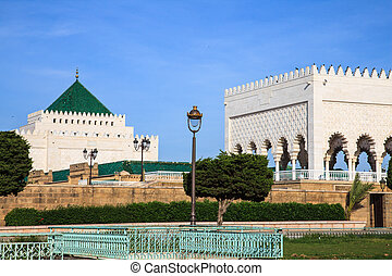 Mausoleum of mohammed v in rabat morocco