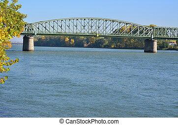 Mauterner Bridge on the River Danube