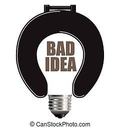 mauvais, concept, idée