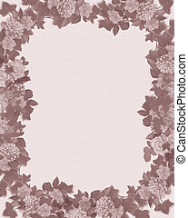 Mauve floral border template