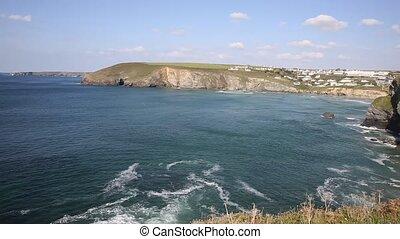 Mawgan Porth coast Cornwall UK - Mawgan Porth coast north ...
