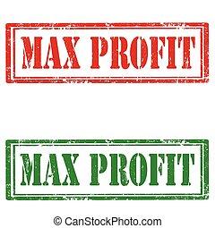 max, lucro