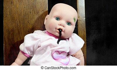 max, poupée, horreur, terrifiant