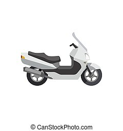 Maxi Scooter in flat style. Vector illustrations of large...