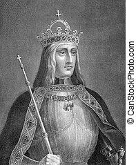 Maximilian I, Holy Roman Emperor (1459-1519) on engraving...