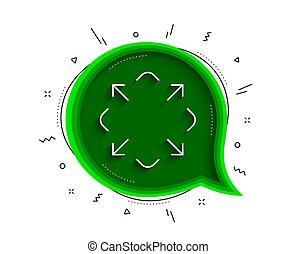Maximize arrow line icon. Full screen sign. Vector - ...