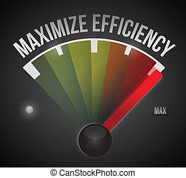 maximize efficiency marker illustration design over a black ...