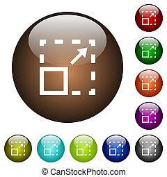 Maximize element color glass buttons - Maximize element ...