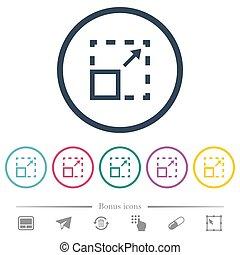 Maximize element flat color icons in round outlines. 6 bonus...
