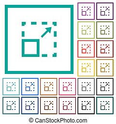 Maximize element flat color icons with quadrant frames on ...