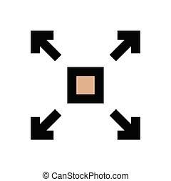 maximize  flat color icon