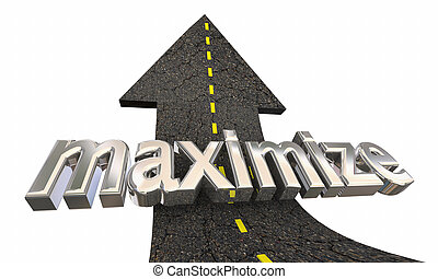 Maximize Increase Higher Road Arrow Up Success 3d Illustration