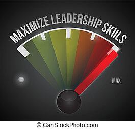 maximize leadership skills to the max illustration design ...