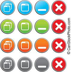 maximize, minimize buttons - suitable for user interface