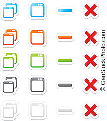 maximize minimize sticker buttons - suitable for user ...