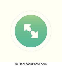 Maximize Vector Icon sign symbol vector illustration icon.