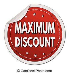 Maximum discount red sticker