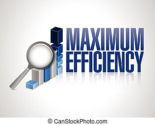 maximum efficiency business graph illustration design over a...