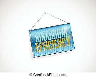 maximum efficiency hanging banner sign