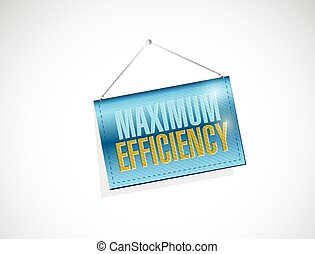 maximum efficiency hanging banner sign