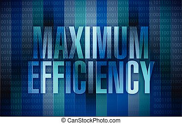 maximum efficiency sign illustration